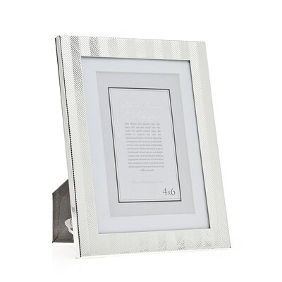 Herringbone Picture Frame Size: 5 x 7 Without Mat/4 x 6 With Mat