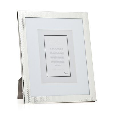 Herringbone Picture Frame Size: 8 x 10 Without Mat/5 x 7 With Mat