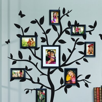 8 Piece Tree Walldecal Picture Frame Set