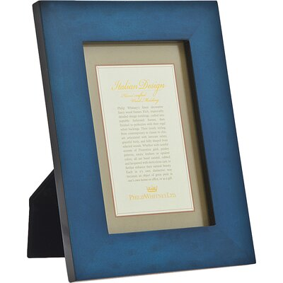 Marquetry Picture Frame Color: Blue 20925