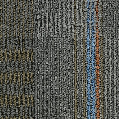 Hollytex Modular En Route 24 x 24 Carpet Tile in Lane Change