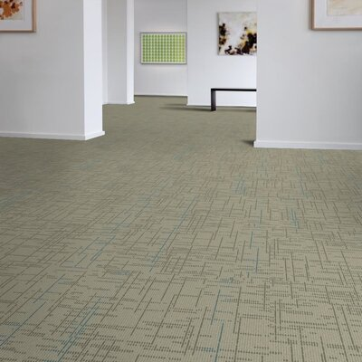 Saga 24 x 24 Carpet Tile in Gray/Blue