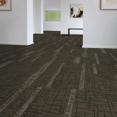Saga 24 x 24 Carpet Tile in Brown/Gray