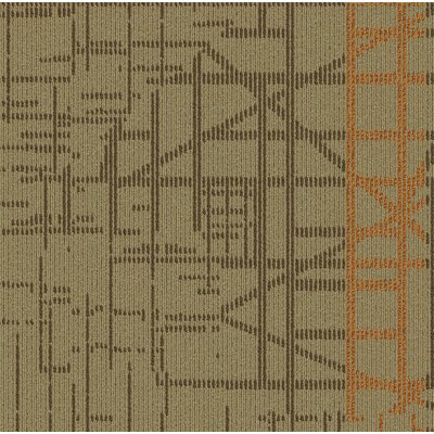 Quintessence 24 x 24 Carpet Tile in Beige/Orange