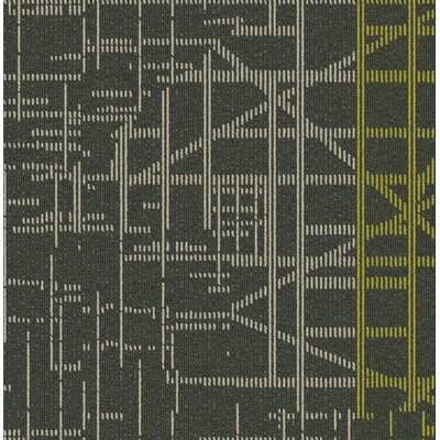 Quintessence 24 x 24 Carpet Tile in Gray/Green