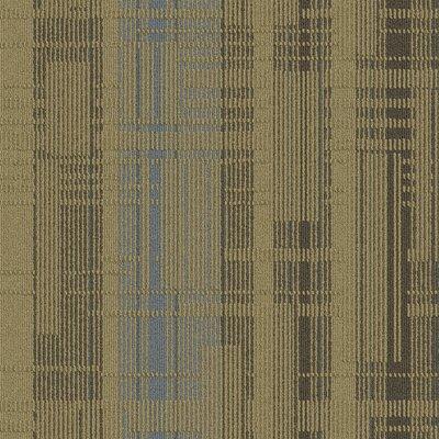 Buildup 24 x 24 Carpet Tile in Beige/Brown/Blue