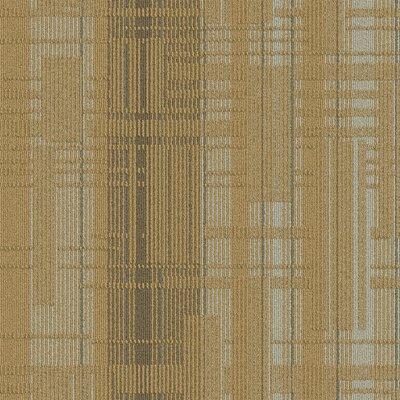 Buildup 24 x 24 Carpet Tile in Beige/Brown/Gray