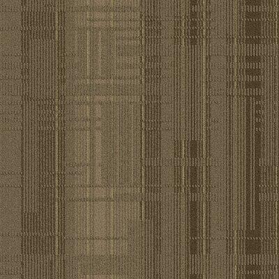Buildup 24 x 24 Carpet Tile in Gray/Brown/Tan