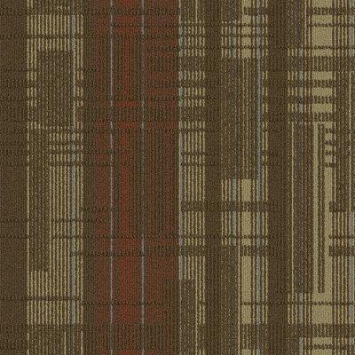 Buildup 24 x 24 Carpet Tile in Red/Tan/Brown/Blue