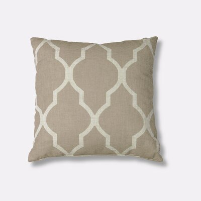 Medalia Decorative Throw Pillow Color: Linen