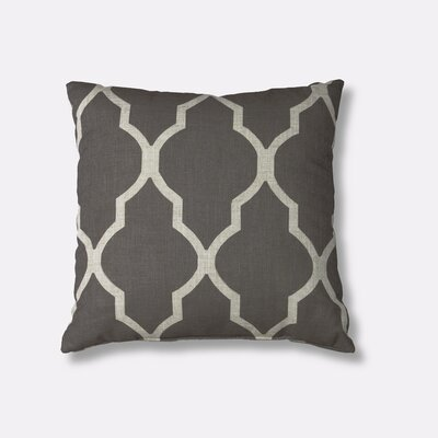 Medalia Decorative Throw Pillow Color: Dark Gray