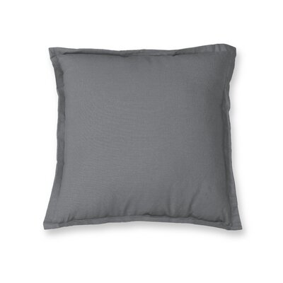 Essex Flange Decorative Throw Pillow Color: Gray