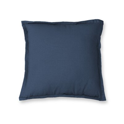 Essex Flange Decorative Throw Pillow Color: Indigo
