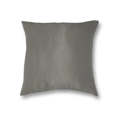 All Seasons Throw Pillow Color: Silver