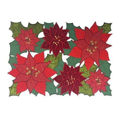 Christmas Allover Rectangular Cutwork Placemat