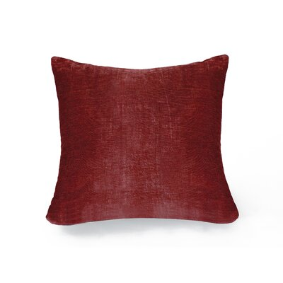 Victoria Throw Pillow Color: Red