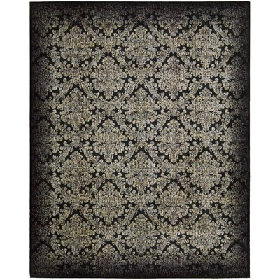Nate Black/Gray Area Rug Rug Size: Rectangle 36 x 56