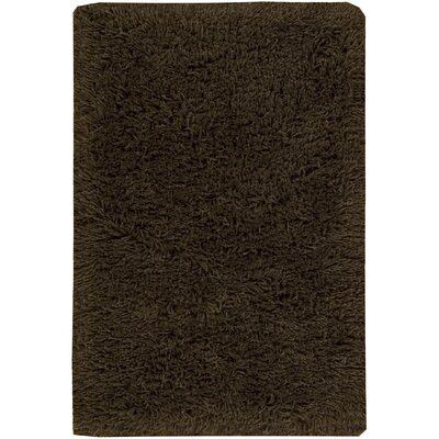 Wallaceton Hand-Woven Chocolate Area Rug Rug Size: 5 x 8