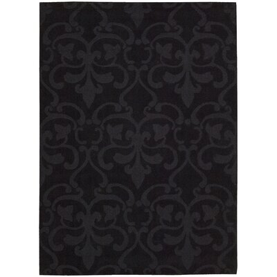 Fonzell Hand-Tufted Charcoal Area Rug Rug Size: 79 x 99