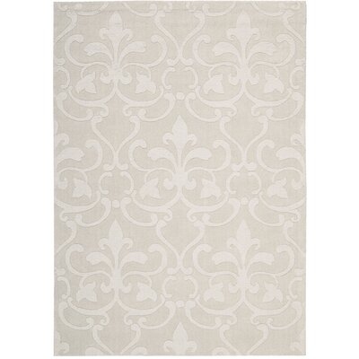 Fonzell Hand-Tufted Sand Area Rug Rug Size: 36 x 56