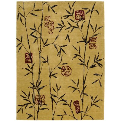 Chambord Gold Area Rug Rug Size: 76 x 96