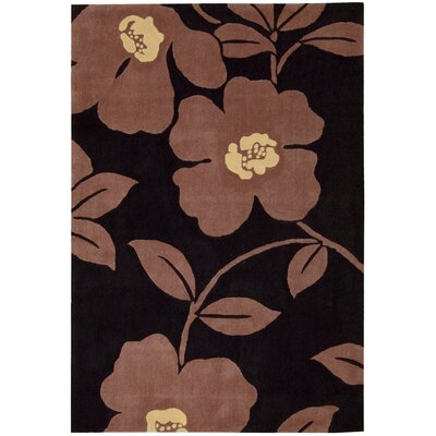 Shar Black / Brown Area Rug Rug Size: Rectangle 5 x 76
