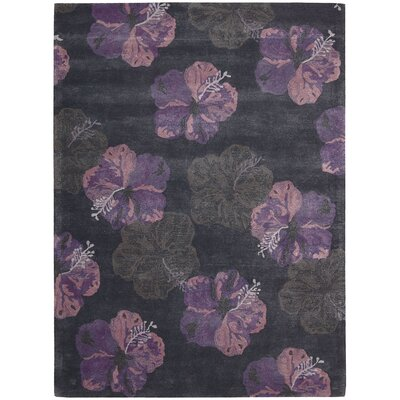 Sanjeev Hand-Woven Ink/Plum Area Rug Rug Size: Rectangle 36 x 56
