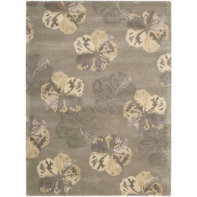 Sanjeev Hand-Woven Mushroom/Beige Area Rug Rug Size: 36 x 56