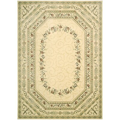 Mickinley Ivory Area Rug Rug Size: Rectangle 23 x 39