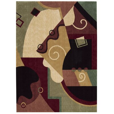 Parallels Area Rug Rug Size: 56 x 75