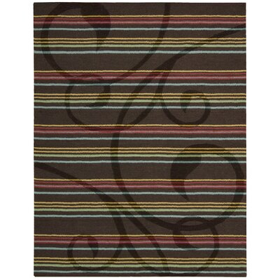 Aviston Hand-Tufted Espresso Area Rug Rug Size: Rectangle 8 x 11