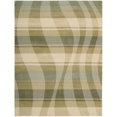 Elements Pg Hand-Woven Sage/Beige Area Rug Rug Size: 56 x 75