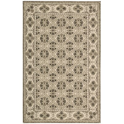 Ehrenfeld Hand-Hooked Brown Area Rug Rug Size: Rectangle 8 x 11
