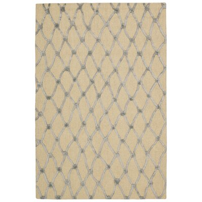 Jandreau Hand-Tufted Ivory/Blue Area Rug Rug Size: Rectangle 5 x 76