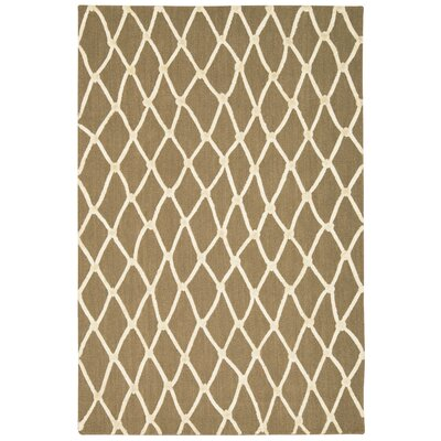 Jandreau Hand-Tufted Latte/Ivory Area Rug Rug Size: Rectangle 5 x 76