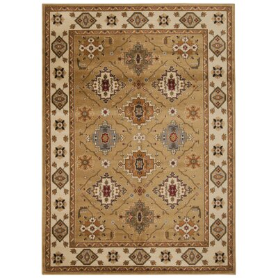 Fitch Gold Rug Rug Size: Rectangle 53 x 73