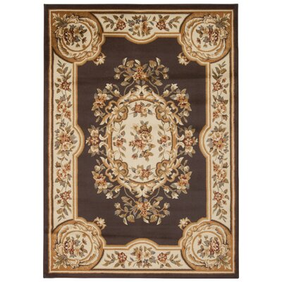 Lukeson Chocolate Area Rug Rug Size: Rectangle 53 x 73