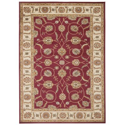 Lukeson Red Area Rug Rug Size: Rectangle 311 x 510