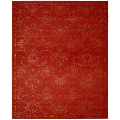 Silk Infusion Red Area Rug Rug Size: 79 x 99