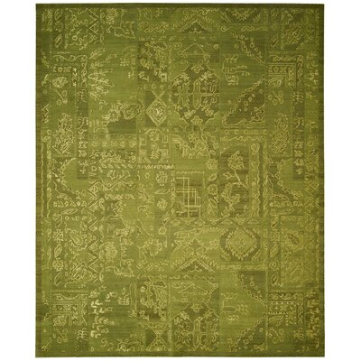 Silk Infusion Green Area Rug Rug Size: 79 x 99
