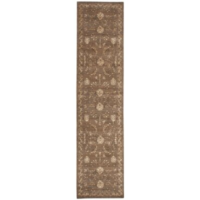 Eidelweiss Leaf and Vine Cocoa Area Rug Rug Size: Runner 25 x 10