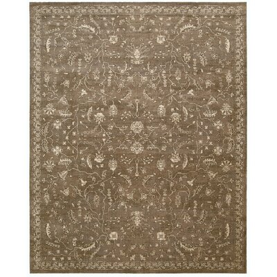 Silk Elements Leaf and Vine Cocoa Area Rug Rug Size: 12 x 15