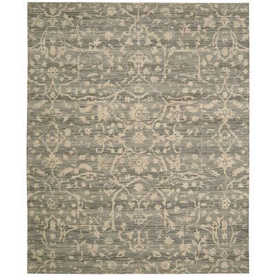 Ferrell Taupe Damask Rug Rug Size: 79 x 99