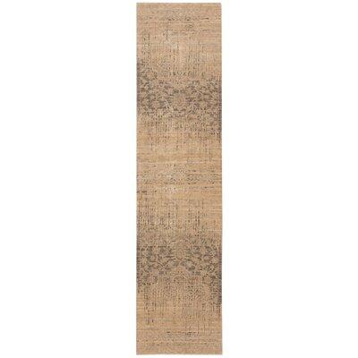 Silk Elements Beige Medallion Rug Rug Size: Runner 25 x 10