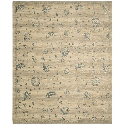 Silk Elements Beige Medallion Rug Rug Size: 86 x 116