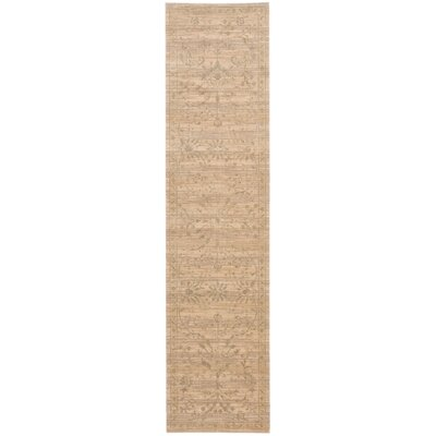 Ferrell Sand Leaf and Vine Area Rug Rug Size: Runner 25 x 10