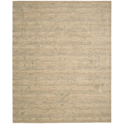 Silk Elements Sand Leaf and Vine Area Rug Rug Size: 56 x 8