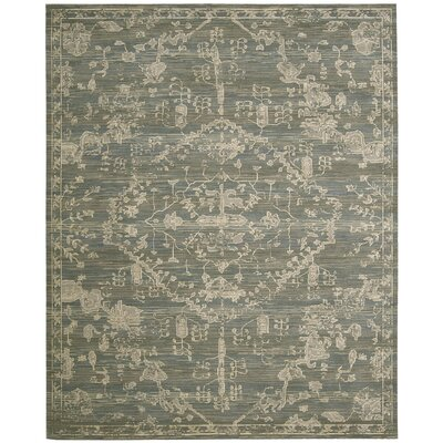 Eidelweiss Blue Medallion Area Rug Rug Size: Rectangle 86 x 116