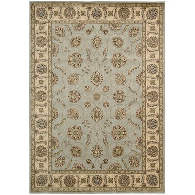 Baum Light Blue Rug Rug Size: Rectangle 53 x 75