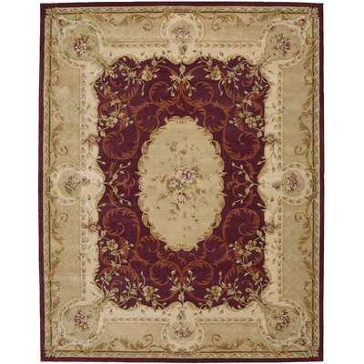 Heritage Savannerie Hand-Tufted Wool Burgundy Area Rug